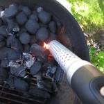 Looftlighter för att tända grillen
