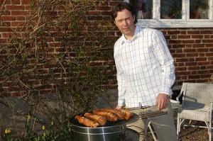 Erik Forsberg grillar