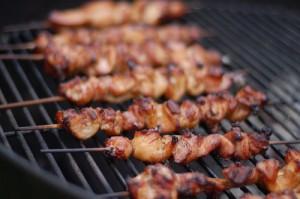 grillade kycklingspett