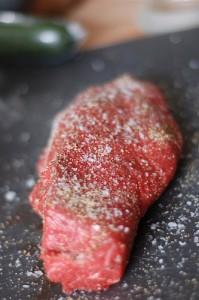 rostas med salt och peppar